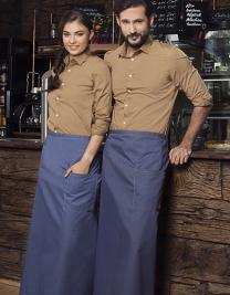 Bistroschürze Jeans-Style mit Tasche