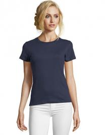 Women`s Round Neck Fitted T-Shirt Imperial